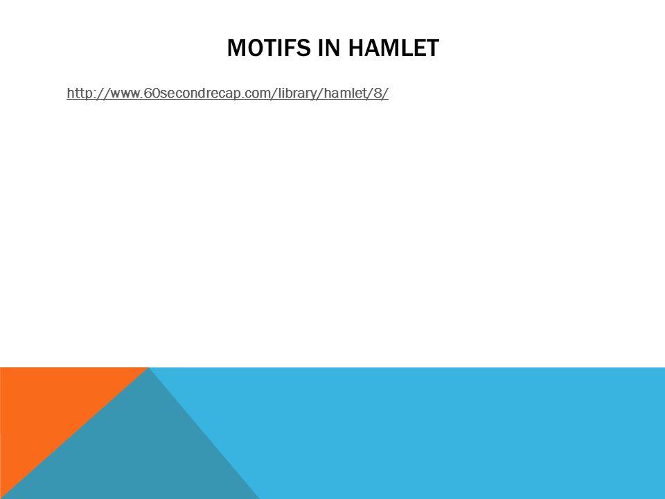 MOTIFS IN HAMLET http://www.60secondrecap.com/library/hamlet/8/
