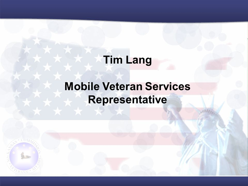 Tim Lang Mobile Veteran Services Representative