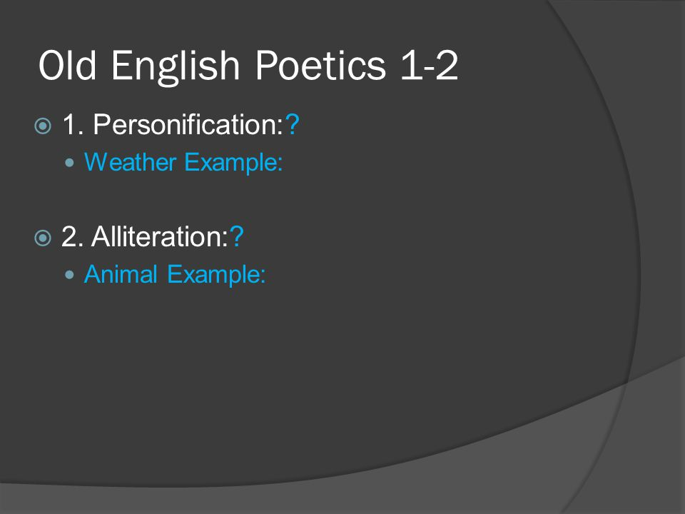 Old English Poetics 3  3.