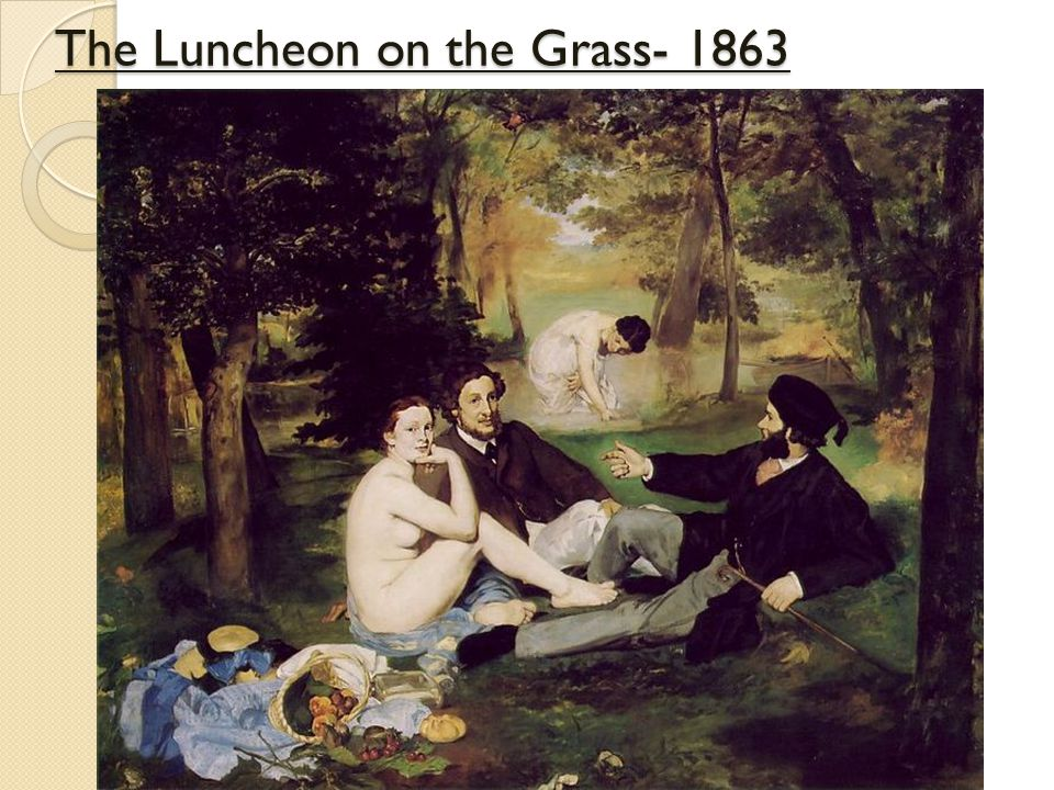 The Luncheon on the Grass- 1863