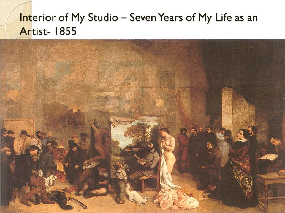 Interior of My Studio – Seven Years of My Life as an Artist- 1855