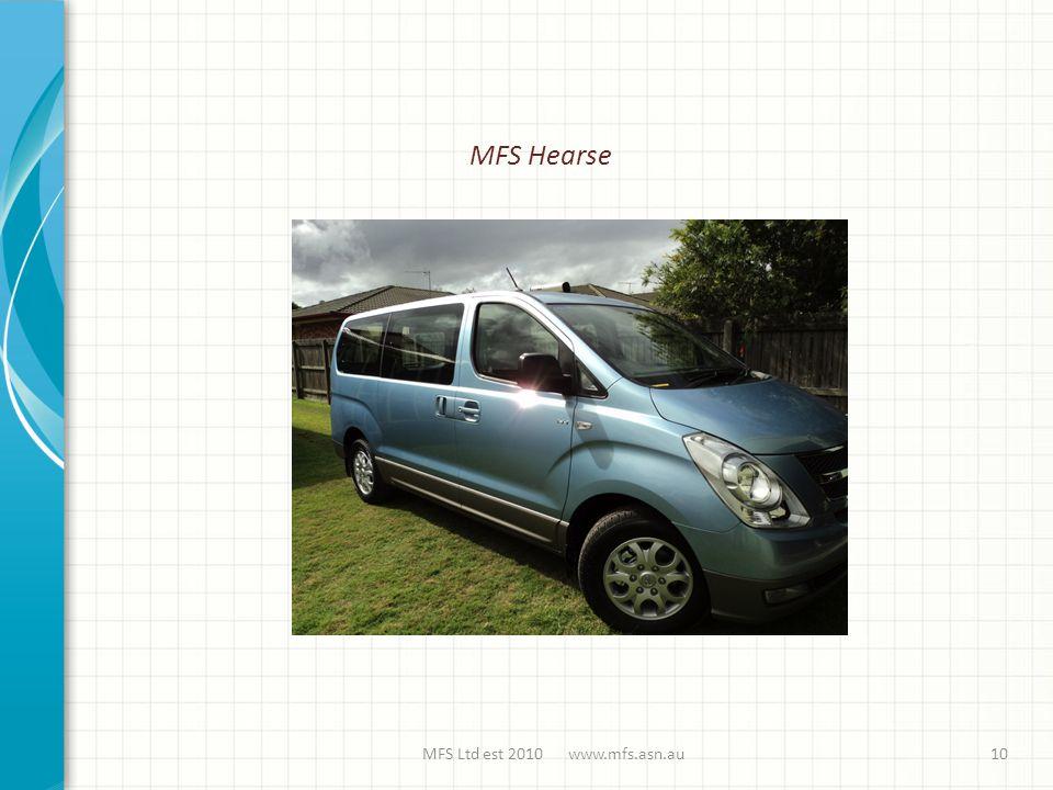 MFS Ltd est 2010 www.mfs.asn.au MFS Hearse 10