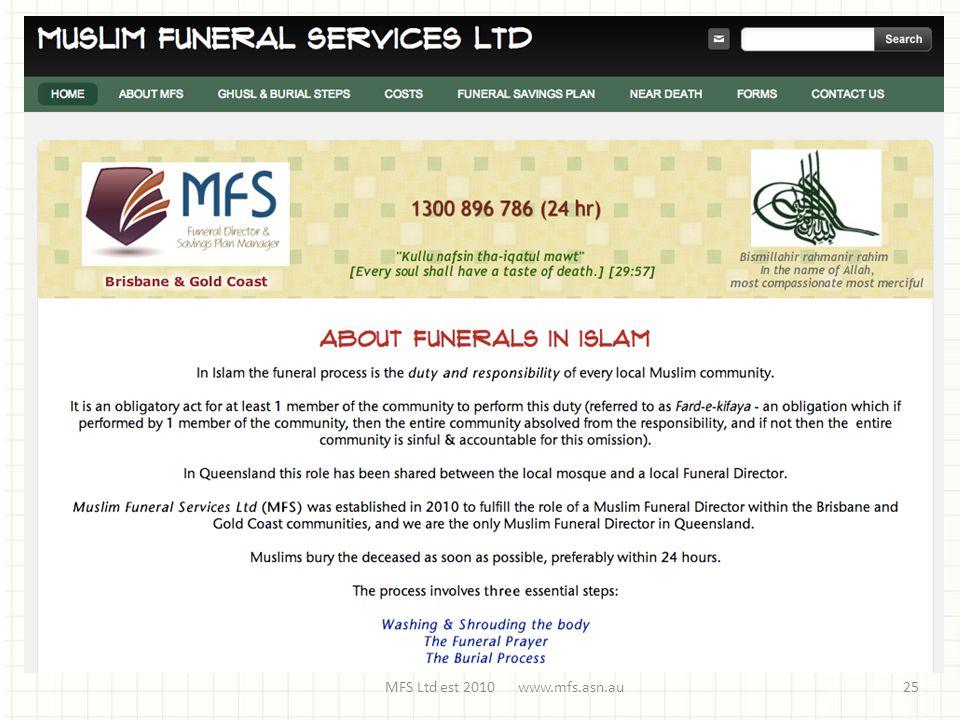 MFS Ltd est 2010 www.mfs.asn.au25