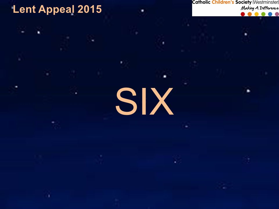 Lent Appeal 2015 SIX