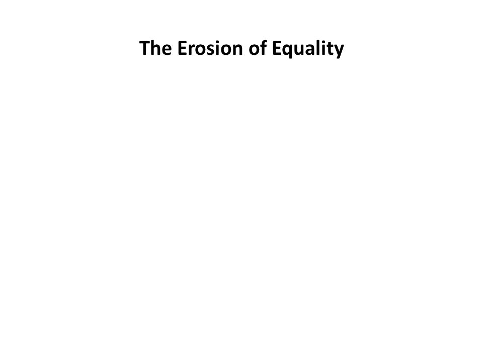 The Erosion of Equality