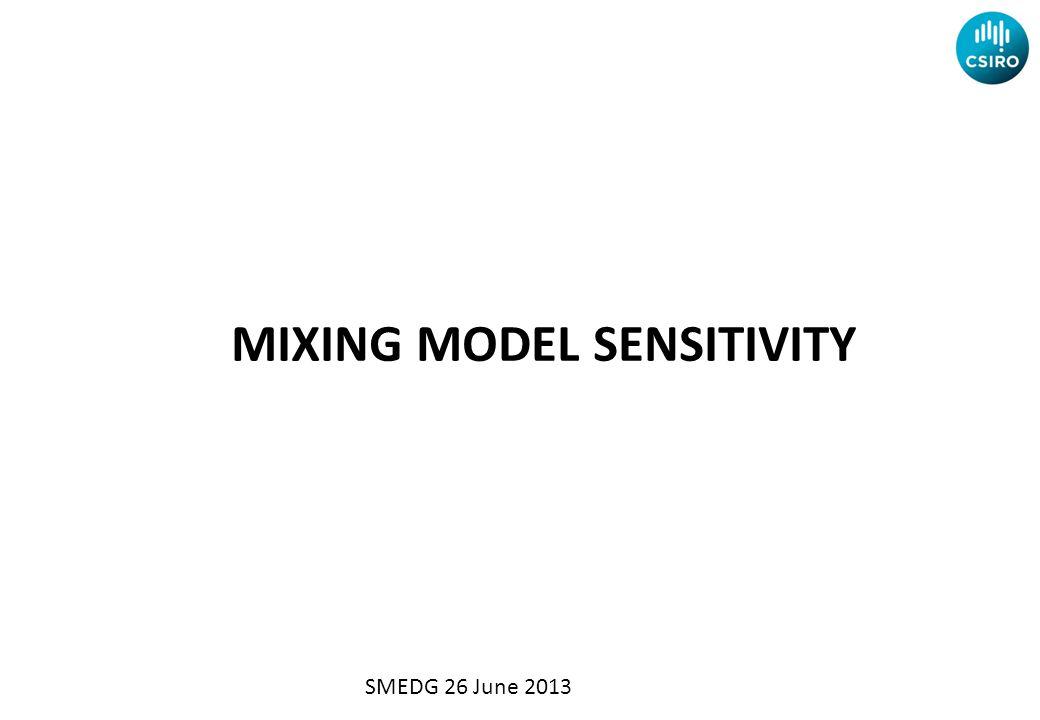 MIXING MODEL SENSITIVITY SMEDG 26 June 2013