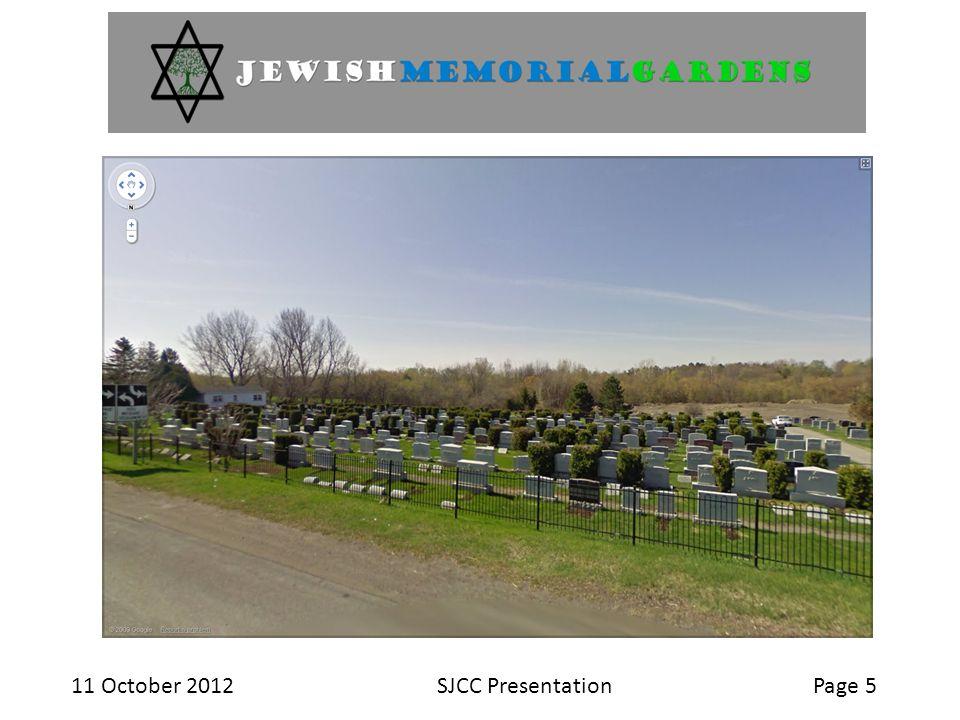 11 October 2012SJCC PresentationPage 5