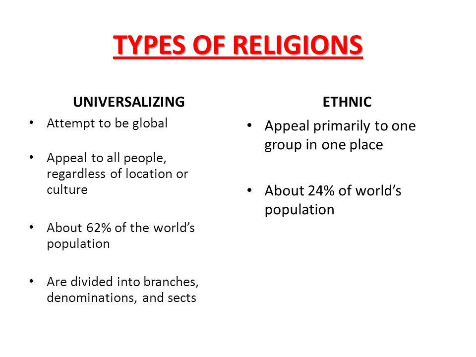 UNIVERSALIZING RELIGIONS CHRISTIANITY BUDDHISM ISLAM
