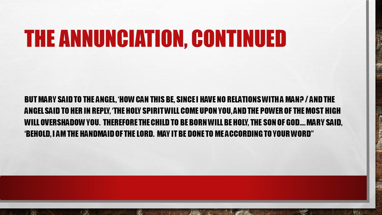 THE ANNUNCIATION FROM WHOM DOES THE INVITATION TO MARY COME.