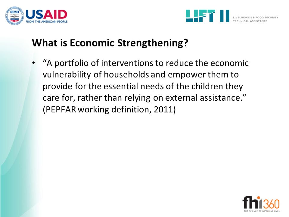 What is Economic Strengthening.