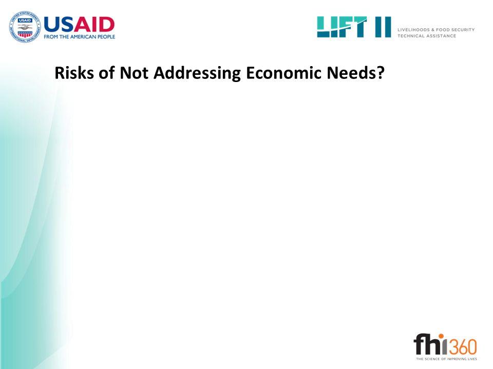 Risks of Not Addressing Economic Needs?