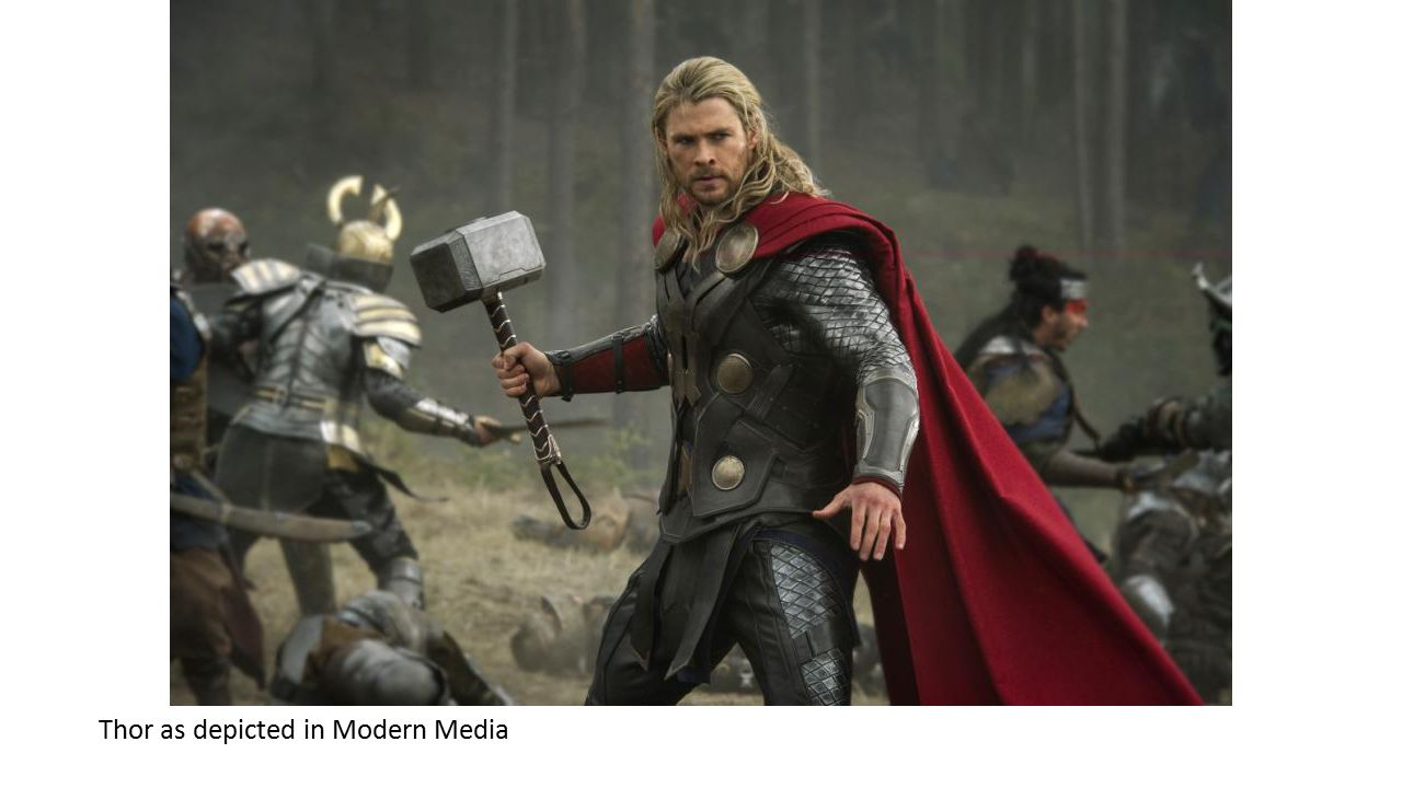 Thor as depicted in Modern Media
