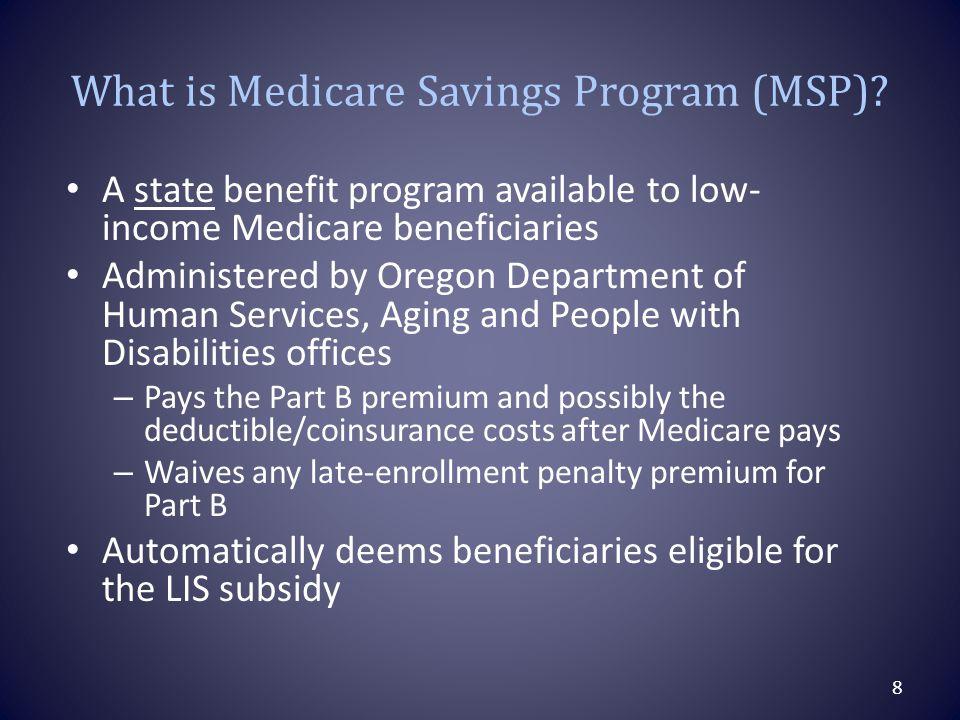 What is Medicare Savings Program (MSP).
