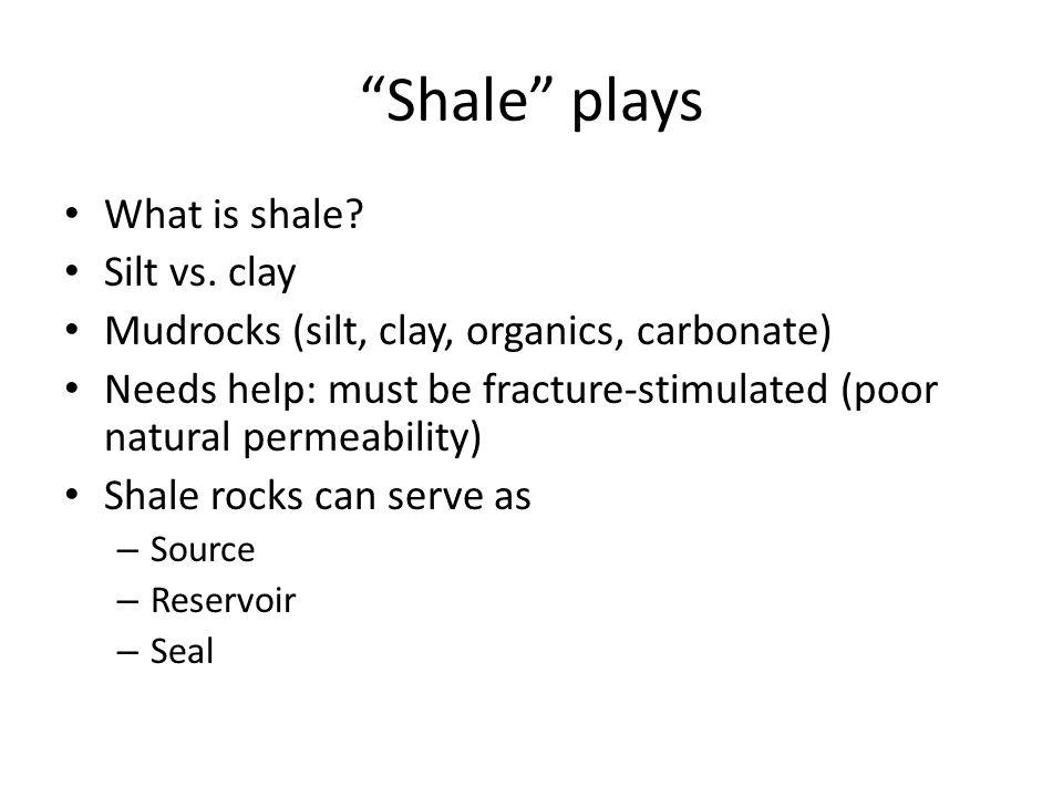 Shale plays What is shale.Silt vs.
