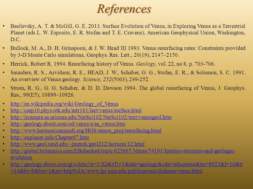 References Basilevsky, A. T. & McGill, G. E. 2013.