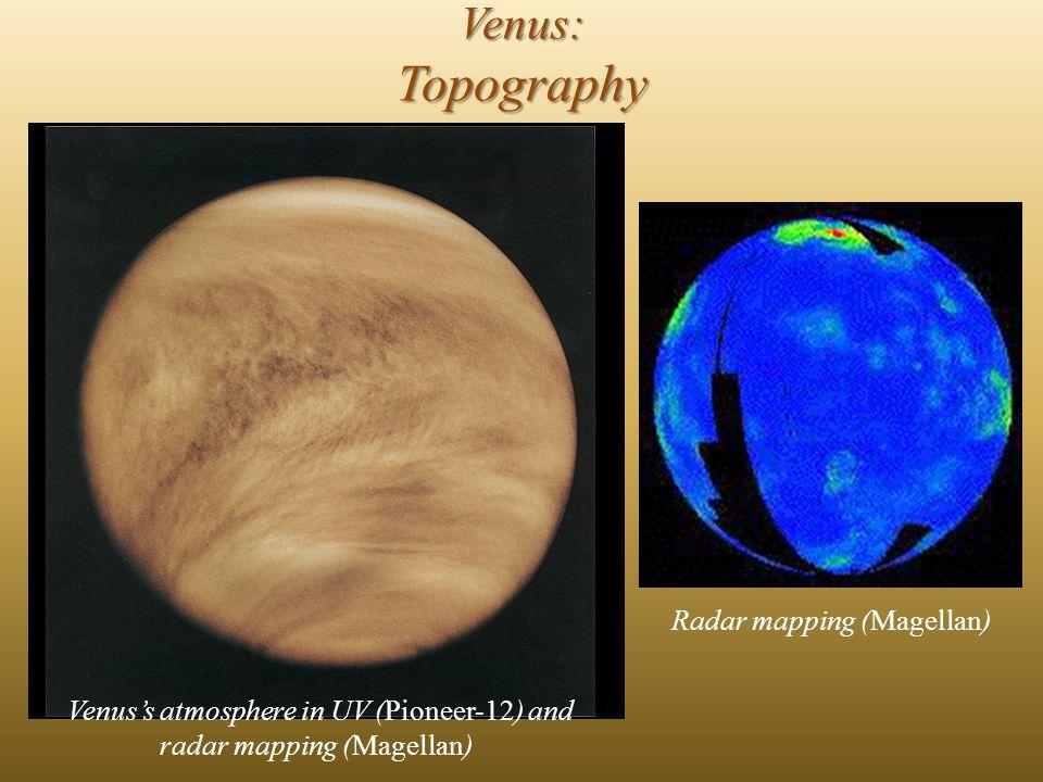 Venus: Surface features Global topographic map of Venus (Magellan)