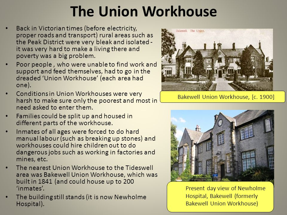 The Union Workhouse Bakewell Union Workhouse, [c.