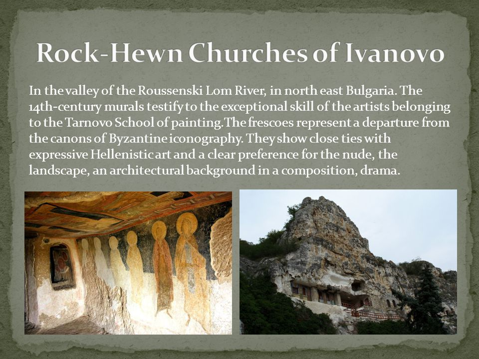 In the valley of the Roussenski Lom River, in north east Bulgaria. The 14th-century murals testify to the exceptional skill of the artists belonging t