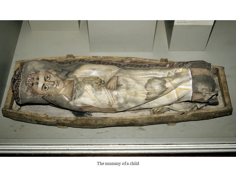 The mummy of a child