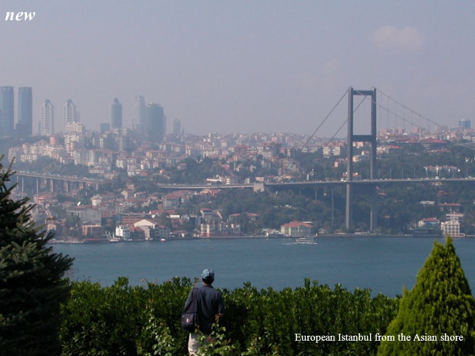 European Istanbul from the Asian shore new