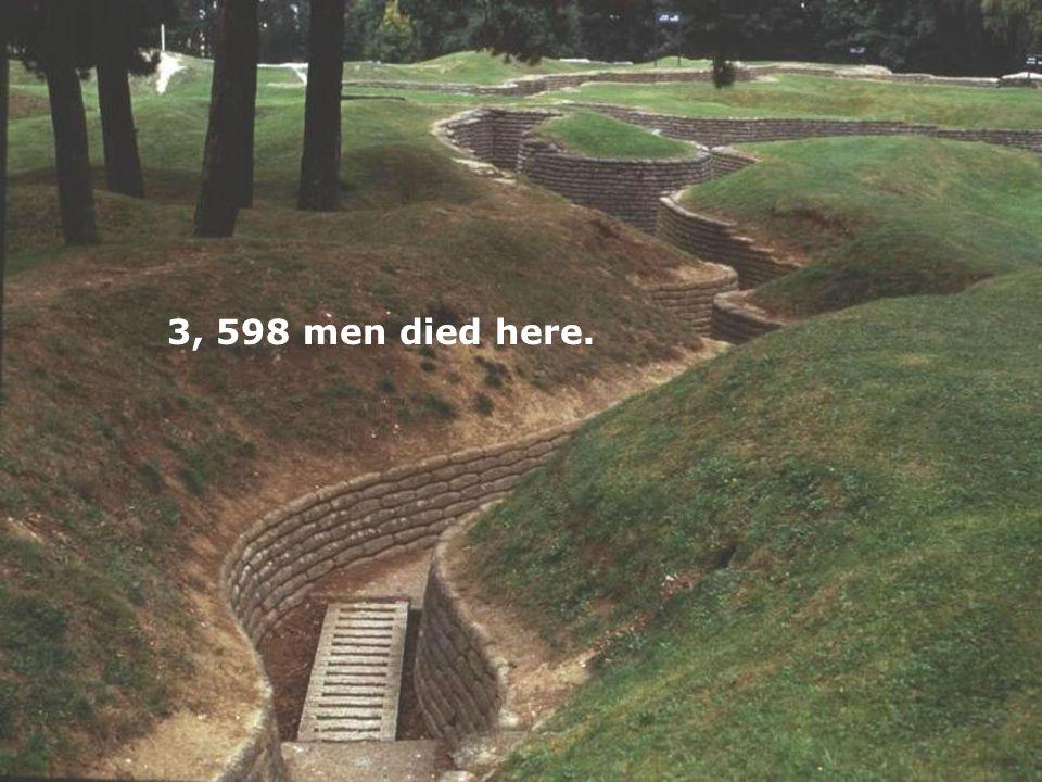3, 598 men died here.