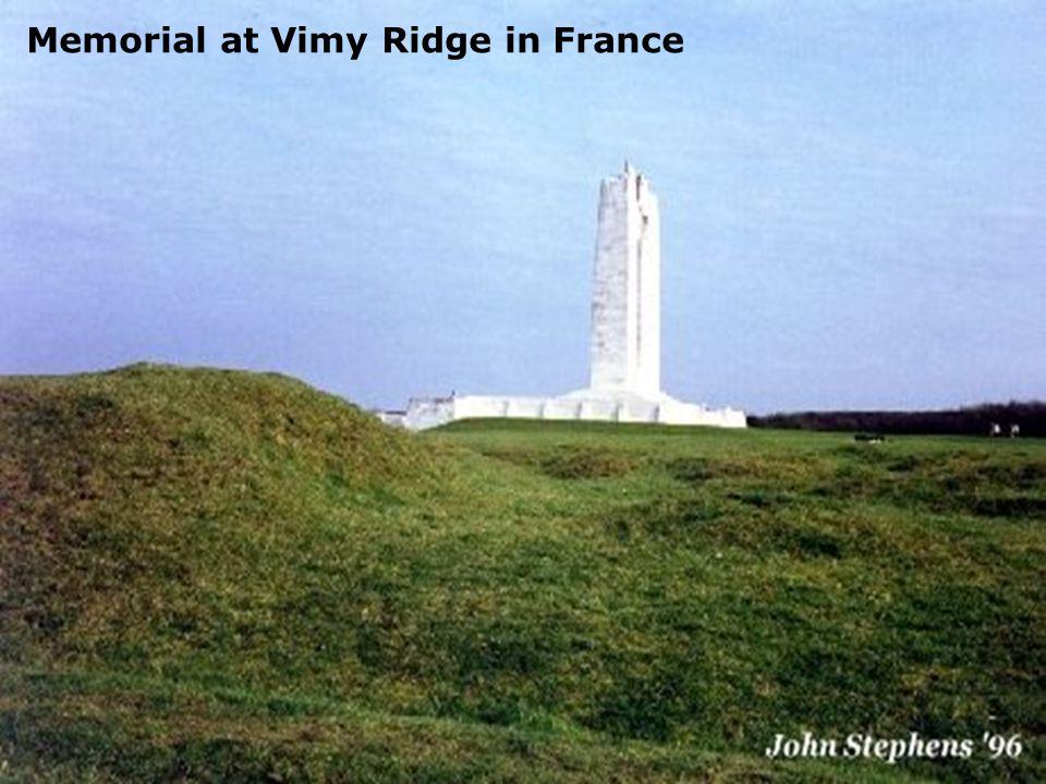 Memorial at Vimy Ridge in France