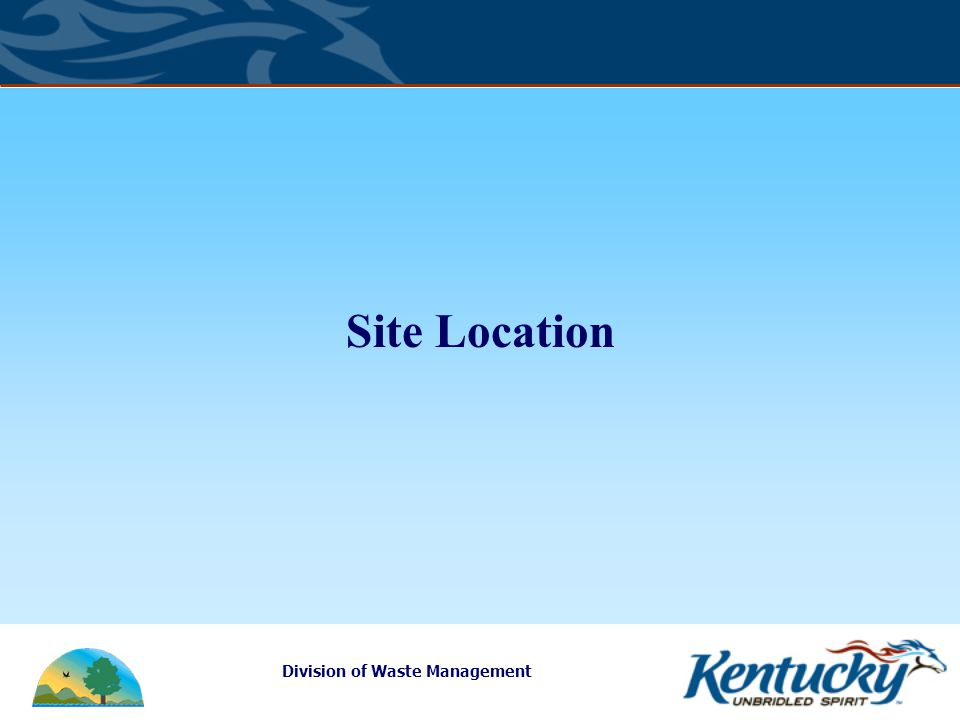 Division of Waste Management Site Location