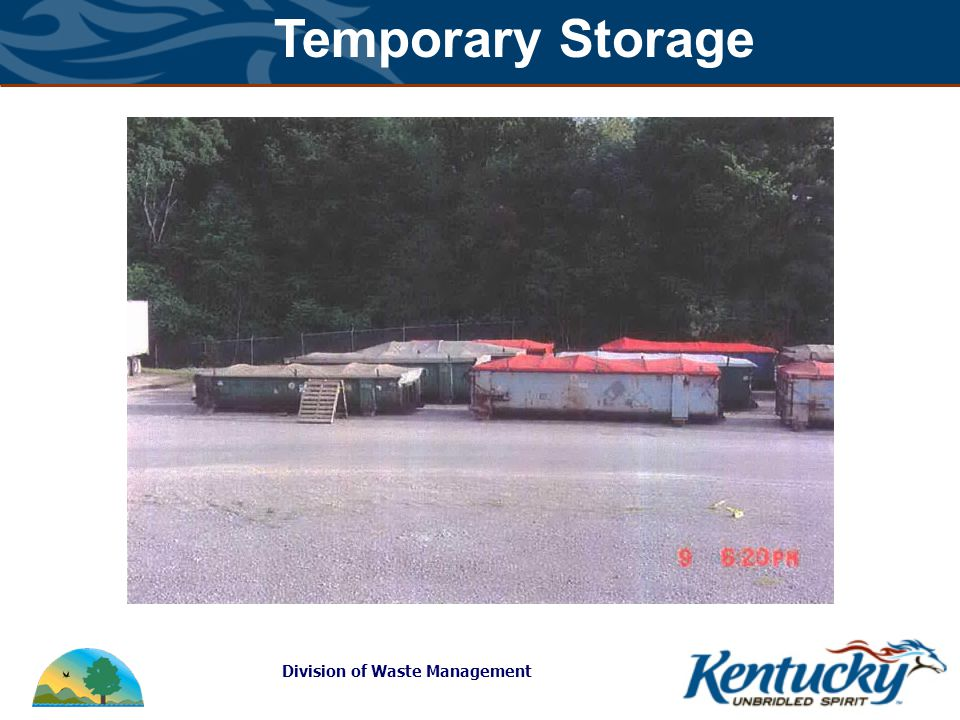 Division of Waste Management Temporary Storage