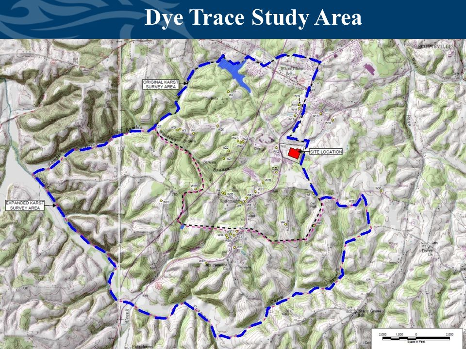 Division of Waste Management Dye Trace Study Area