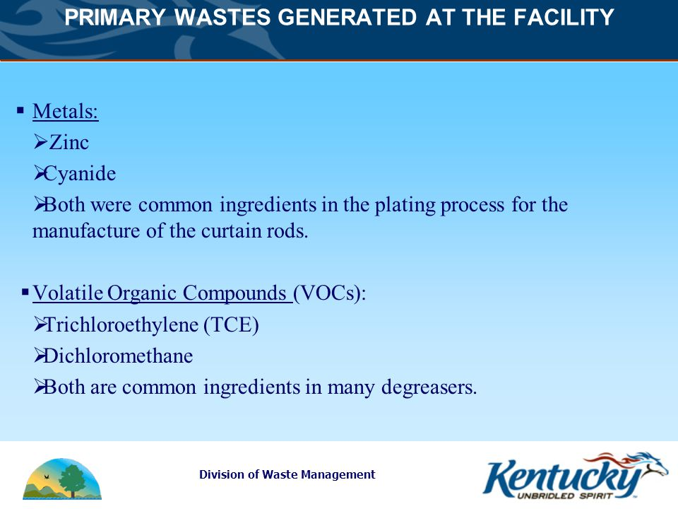 Division of Waste Management Environmental Regulation Cooper disposed of wastes in trenches until 1979.
