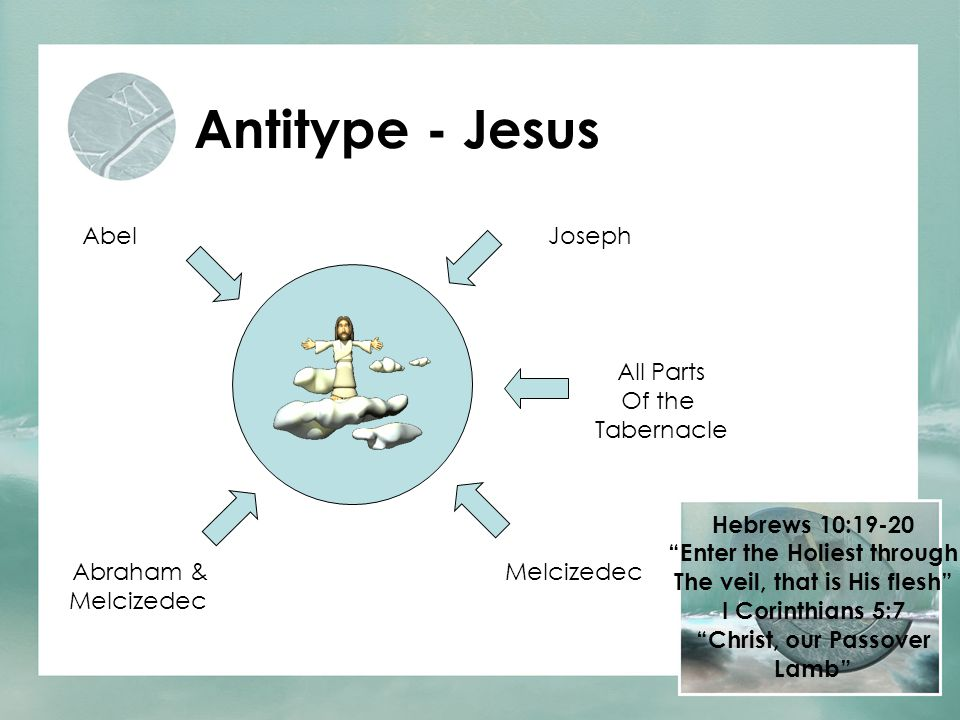 "Antitype - Jesus JosephAbel Abraham & Melcizedec All Parts Of the Tabernacle Hebrews 10:19-20 ""Enter the Holiest through The veil, that is His flesh"""