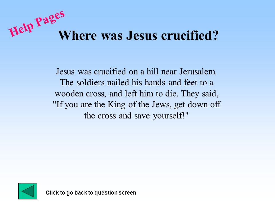 Help Pages Who was with Jesus at the Passover feast.