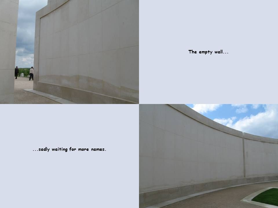 The empty wall......sadly waiting for more names.