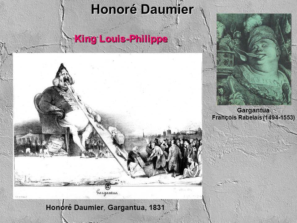Honoré Daumier, Le Passé–Le Présent–L Avenir (Past, Present, Future), La Caricature, January 9, 1834 King Louis-Philippe פעם שנייה Gargantua François Rabelais (1494-1553) Honoré Daumier
