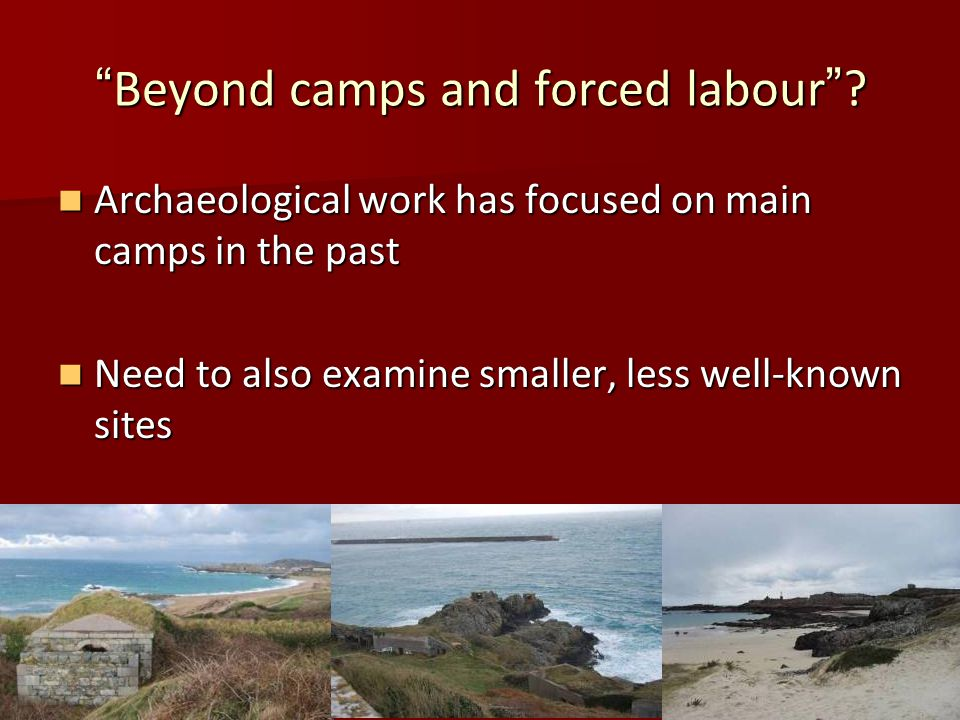 Beyond camps and forced labour .