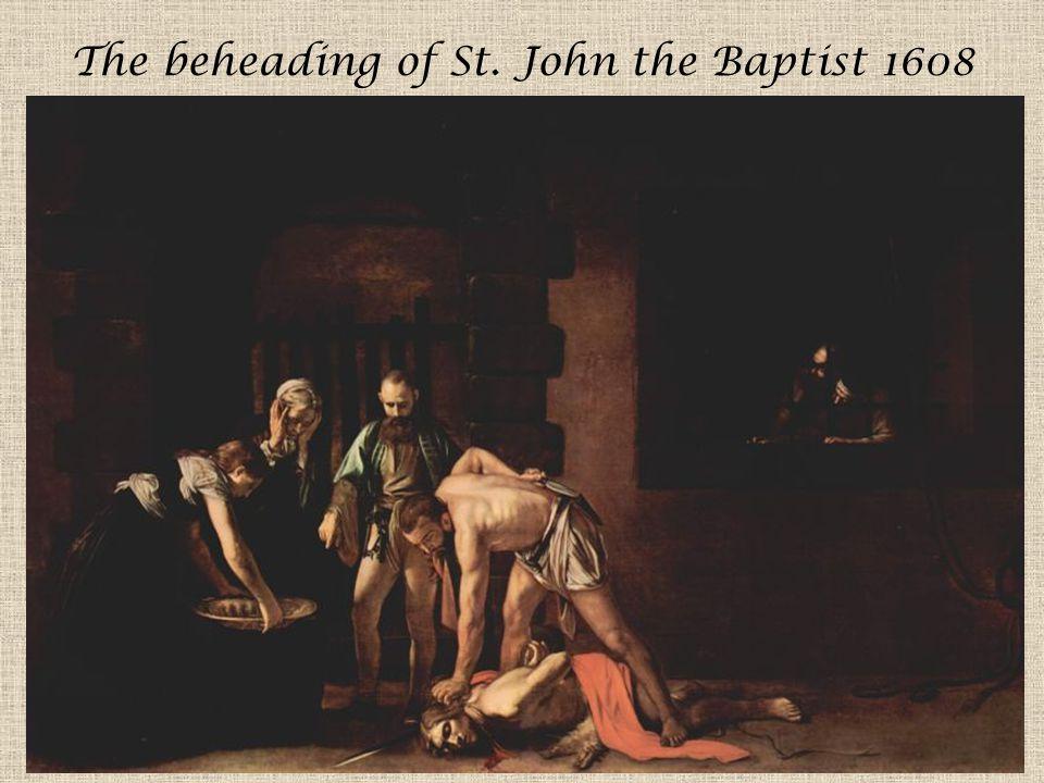 The beheading of St. John the Baptist 1608