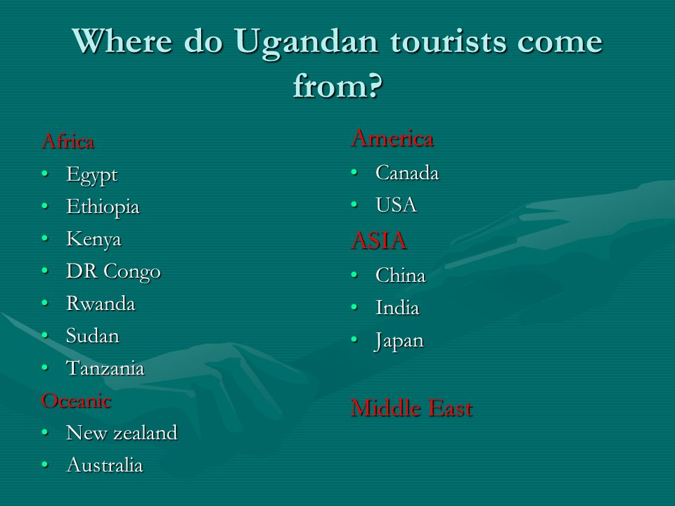 Where do Ugandan tourists come from.