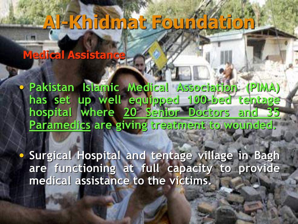 Six Major camps set up at Balakot, Shinkiari, Shawwal, Garhi Habibullah, Battal, Mansehra and many more here and there.