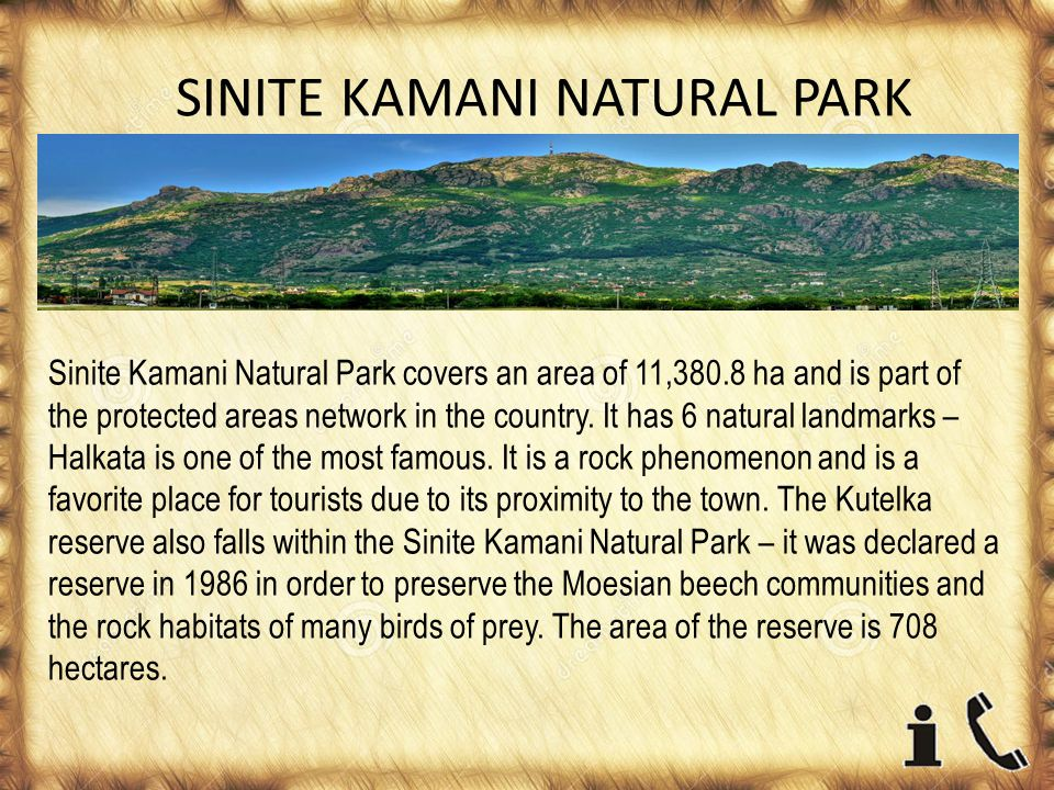 SINITE KAMANI NATURAL PARK Sinite Kamani Natural Park covers an area of 11,380.8 ha and is part of the protected areas network in the country.