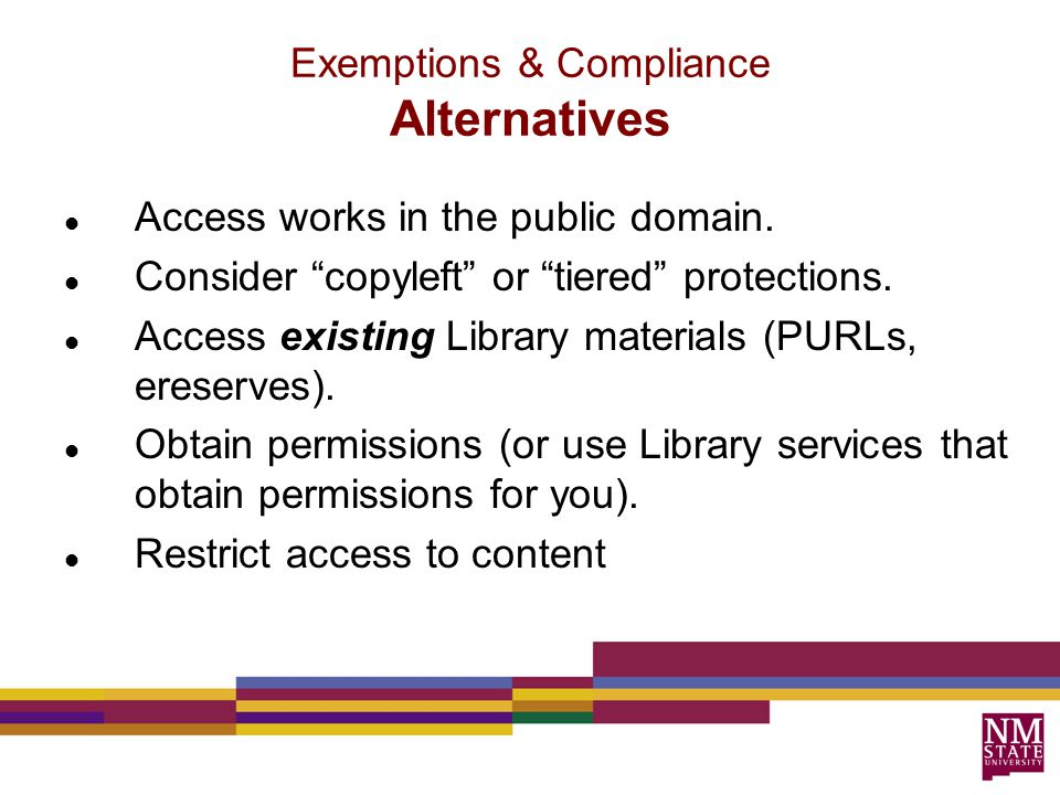 Access works in the public domain. Consider copyleft or tiered protections.