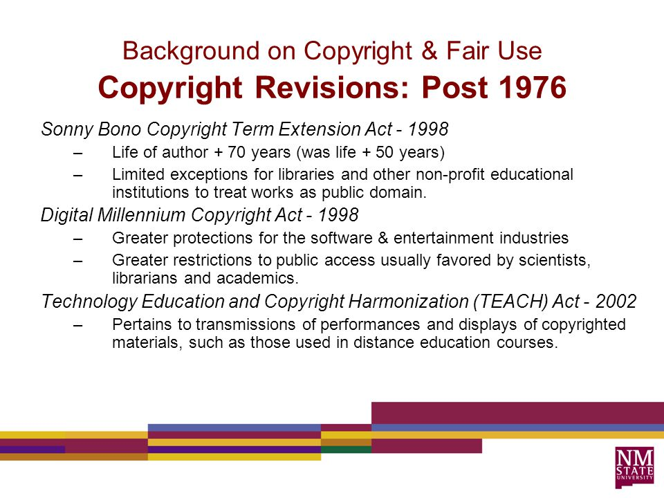 When does copyright occur.