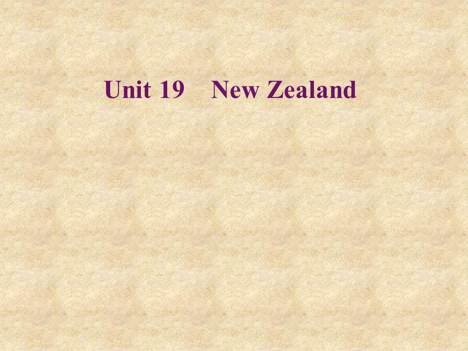 Unit 19 New Zealand