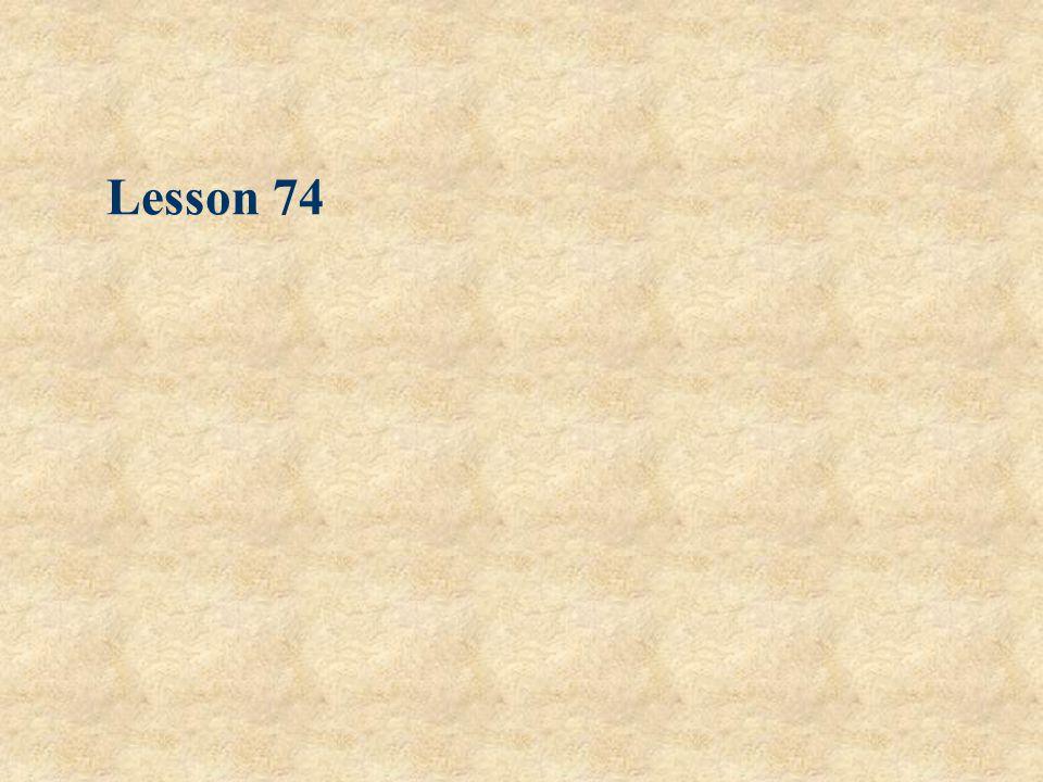 Lesson 74