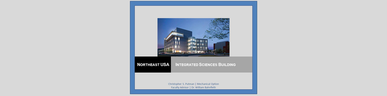 Christopher S. Putman | Mechanical Option Faculty Advisor | Dr.