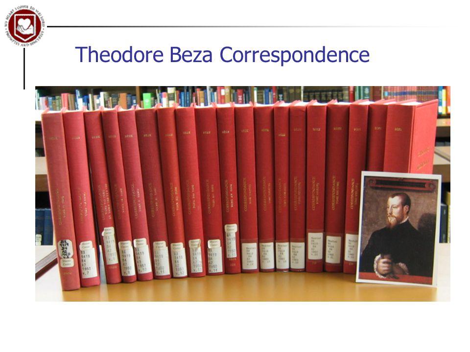 Theodore Beza Correspondence