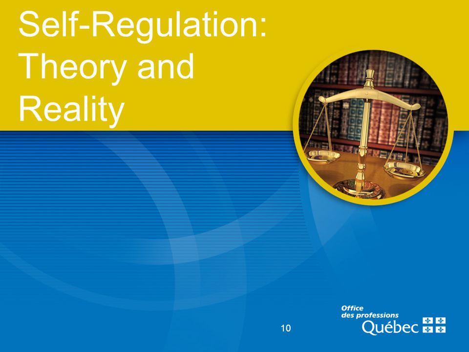 10 Self-Regulation: Theory and Reality