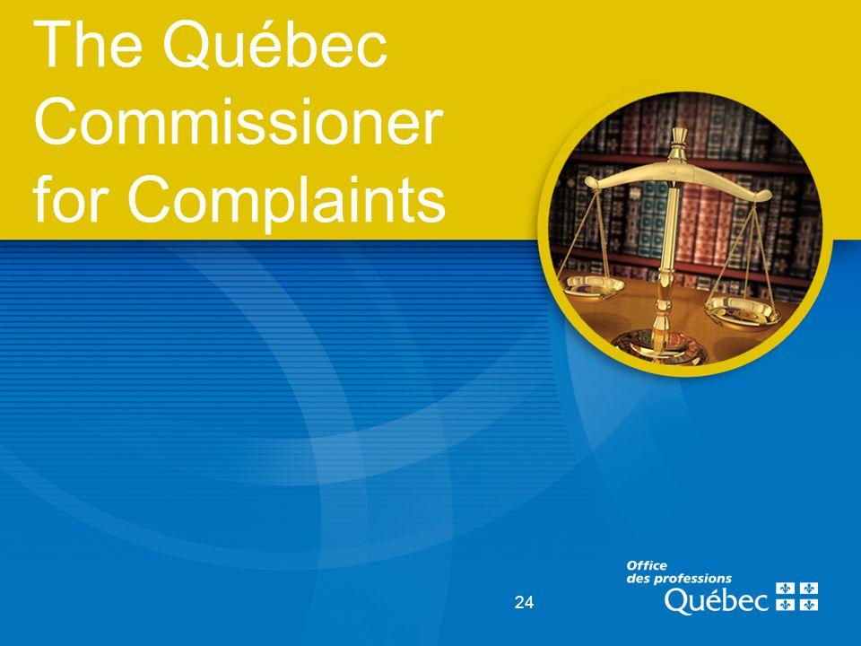 24 The Québec Commissioner for Complaints