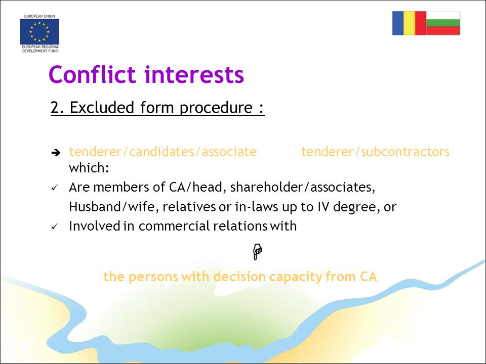 18 Conflict interests 2.