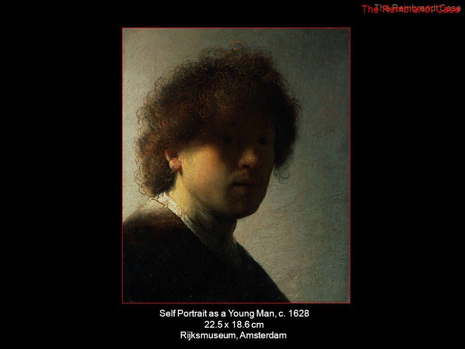 Self Portrait as a Young Man, c. 1628 22.5 x 18.6 cm Rijksmuseum, Amsterdam The Rembrandt Case