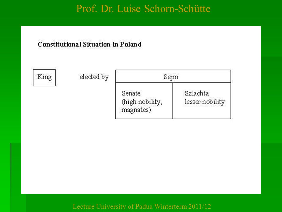 Prof. Dr. Luise Schorn-Schütte Lecture University of Padua Winterterm 2011/12